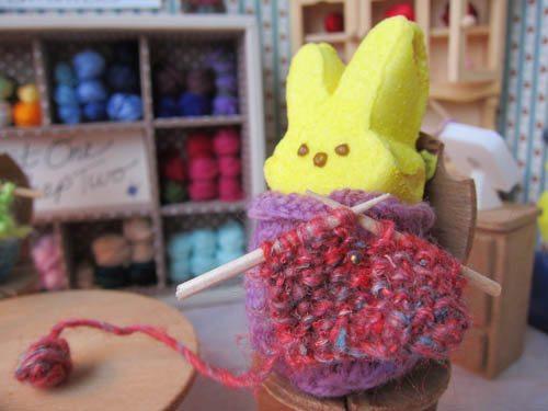 knit peeps Easter Crochet: Peeps!