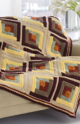 log cabin crochet blanket pattern Beyond a Blanket: 10 Crochet Quilt Patterns