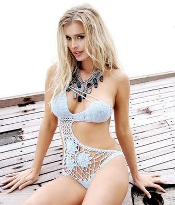 manie one asymmetrical crochet swimsuit Stunning 2014 Crochet Swimsuits