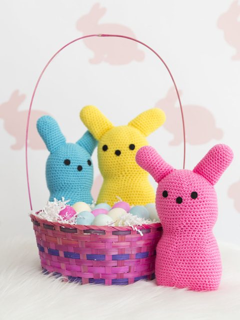 peep crochet pillows Easter Crochet: Peeps!