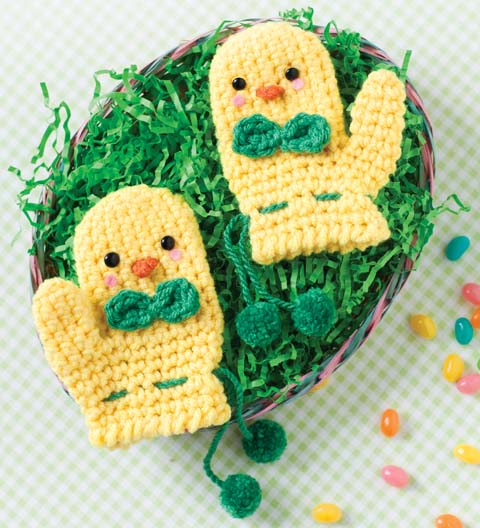 peeps crochet mittens Easter Crochet: Peeps!