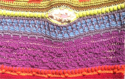susan morrow crochet wall art detail