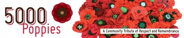 crochet knit poppies