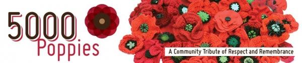 crochet knit poppies