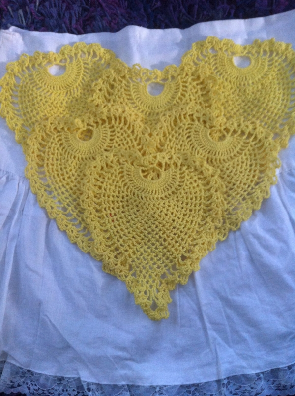 IMG 5504 600x803 Thrifted Crochet: Pineapples, Angel, Doily   Your Ideas Wanted!