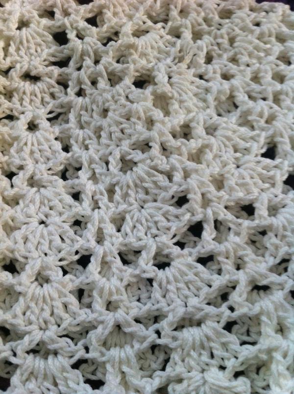 crochet angel detail