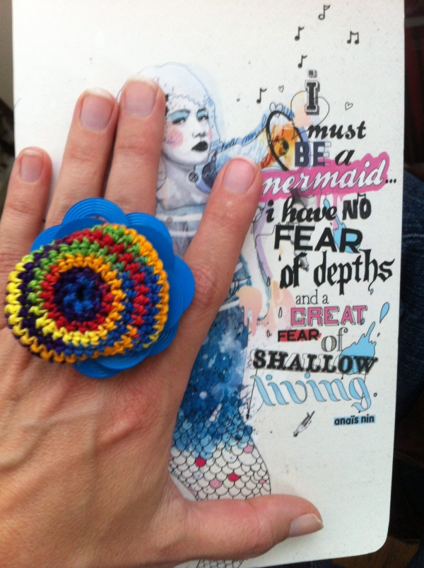 crochet ring art