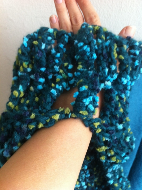 My New Crochet Convertible Scarf/ Shrug