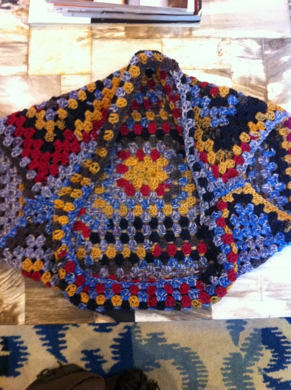 My Crochet Granny Square Shrug