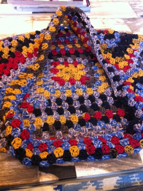 granny square crochet shrug