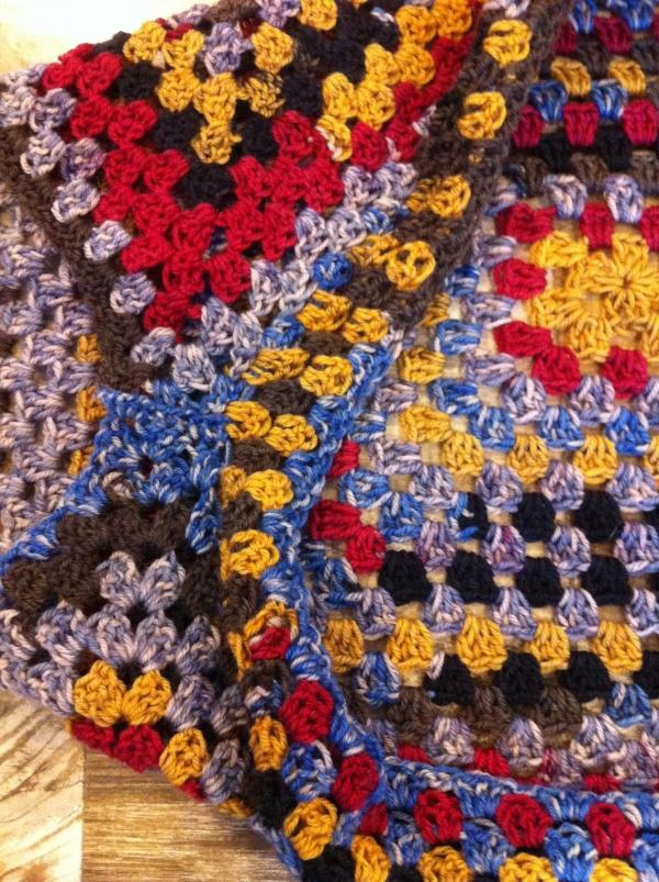 granny square crochet shrug