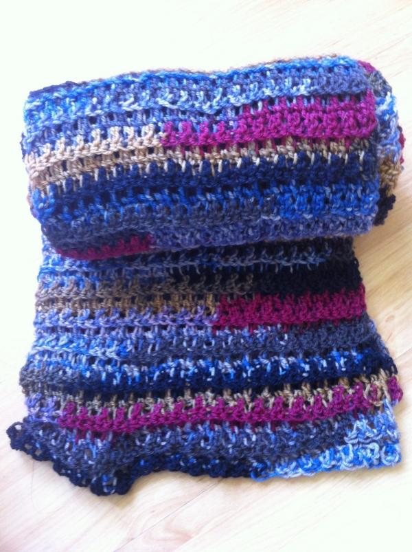 ribbed crochet scarf