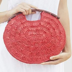 red envelope crochet purse