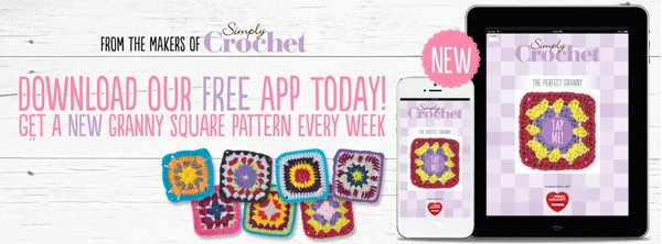 Simply Crochet Granny Square app Link Love for Best Crochet Patterns, Ideas and News