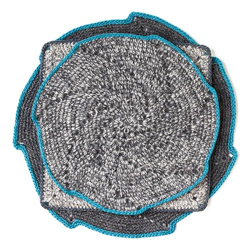 alpaca spiral crochet mats fair trade