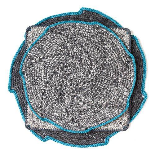 alpaca spiral crochet mats fair trade