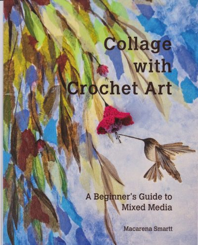 collage crochet art book