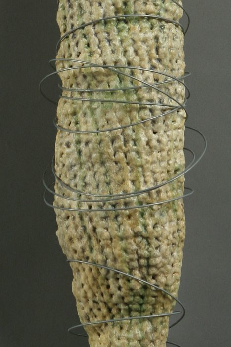 crochet acrylic art Nature Based Plarn Crochet Artist Barbara De Pirro