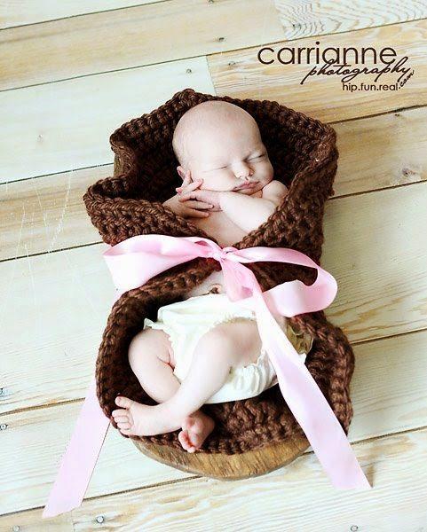 crochet baby wrap
