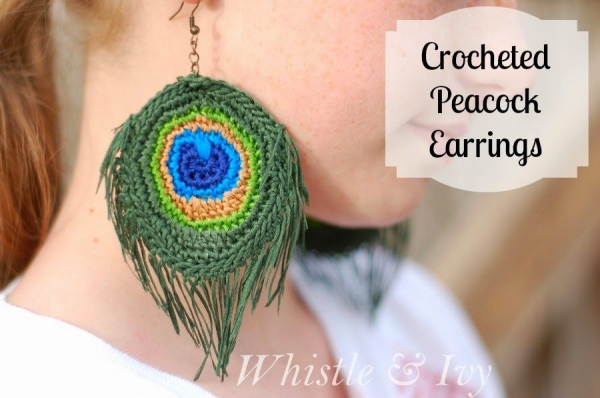 crochet earrings 600x398 Link Love for Best Crochet Patterns, Ideas and News