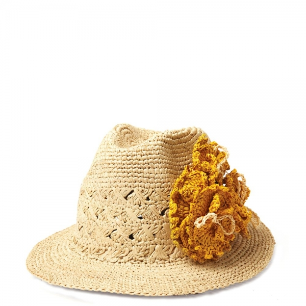 crochet flower hat 600x600 Fair Trade Crochet: Mar y Sol