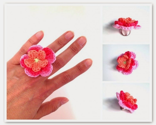 crochet flower ring pattern