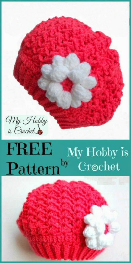 toddler crochet slouch hat free pattern