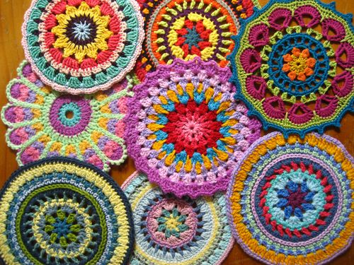crochet mandala art