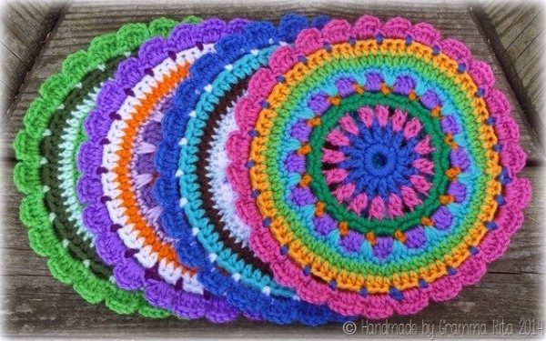 crochet mandala1 600x375 Link Love for Best Crochet Patterns, Ideas and News