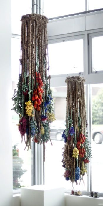 crochet plastic bag art
