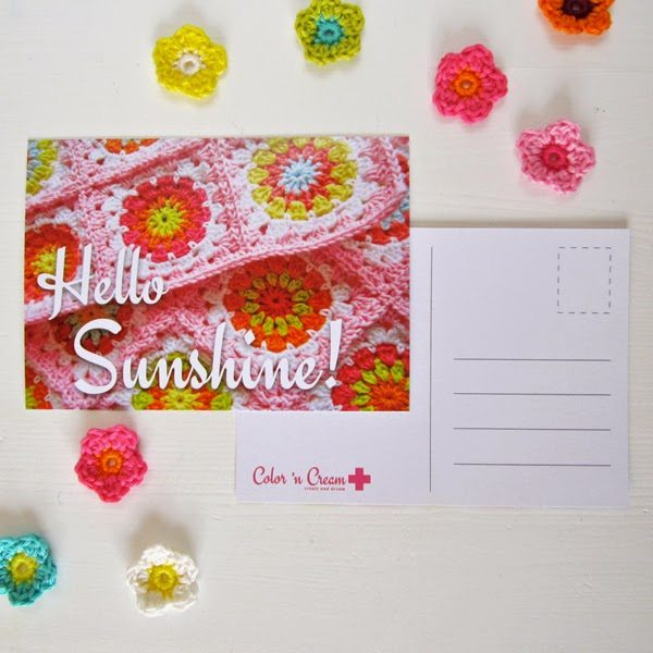 crochet postcards
