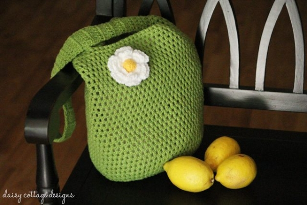 Crochet Patterns For Tote Bags : Crochet tote bag free pattern from Daisy Cottage Designs