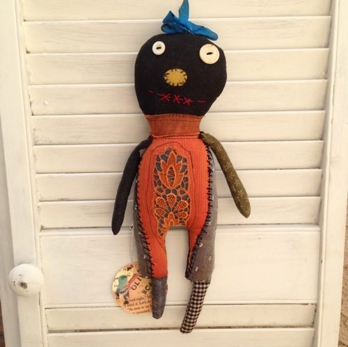found fabric doll