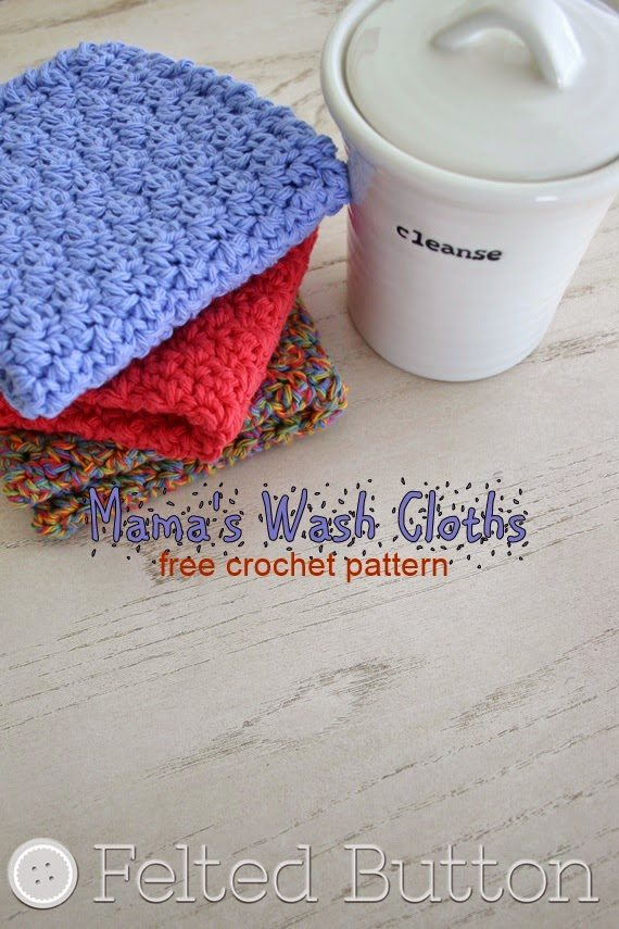 free crochet washcloth pattern Link Love for Best Crochet Patterns, Ideas and News