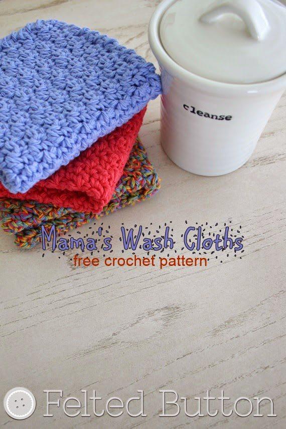 vrij haak washandje pattern