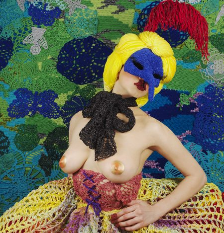 olek crochet art Oleks Sexy Crochet Art in Honor of Miss Van