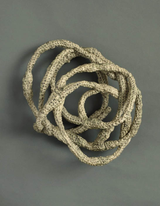 plarn crochet sculpture