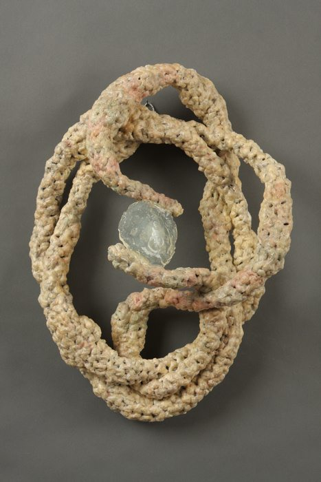 sculpture crochet Nature Based Plarn Crochet Artist Barbara De Pirro