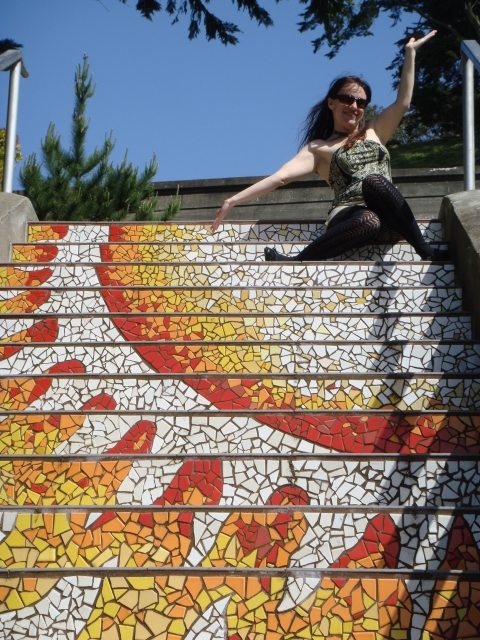 tiled steps Im in Love with my San Francisco Home