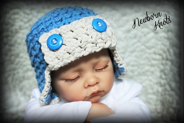 crochet aviator hat baby pattern