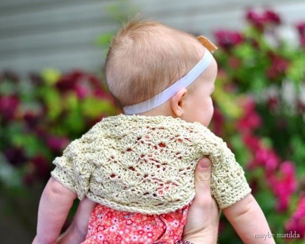 crochet baby shrug