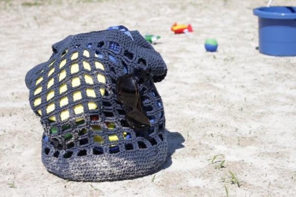 crochet beach tote free pattern