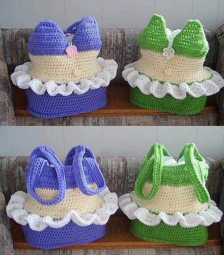 crochet bikini bag