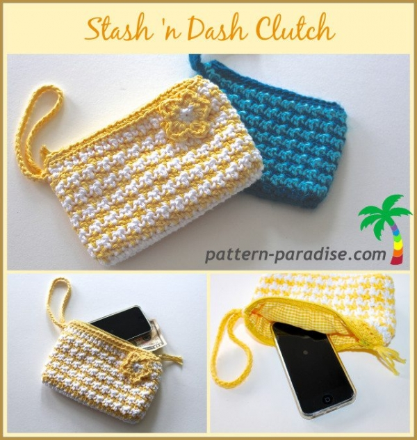 crochet clutch pattern 600x633 Link Love for Best Crochet Patterns, Ideas and News