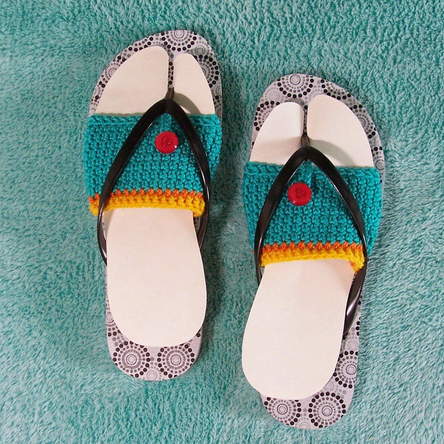 Crochet Patterns Using Flip Flops : crochet flip flops