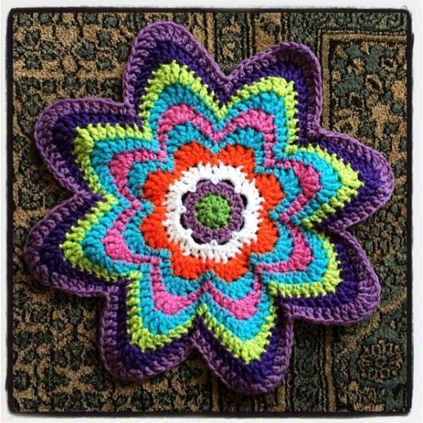 crochet flower mandala
