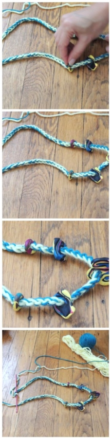 crochet necklace stranding