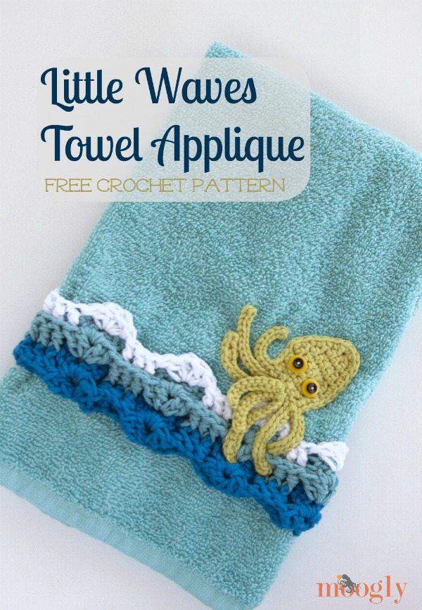 crochet towel applique pattern