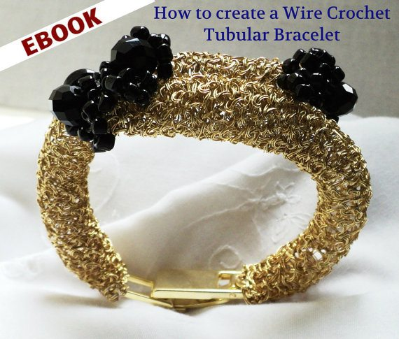 crochet wire bracelet tutorial Sponsor Love: Learn To Crochet Wire Jewelry