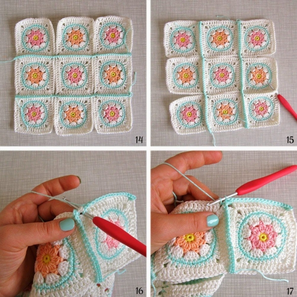 How to Join Solid Crochet Squares via @colorncream